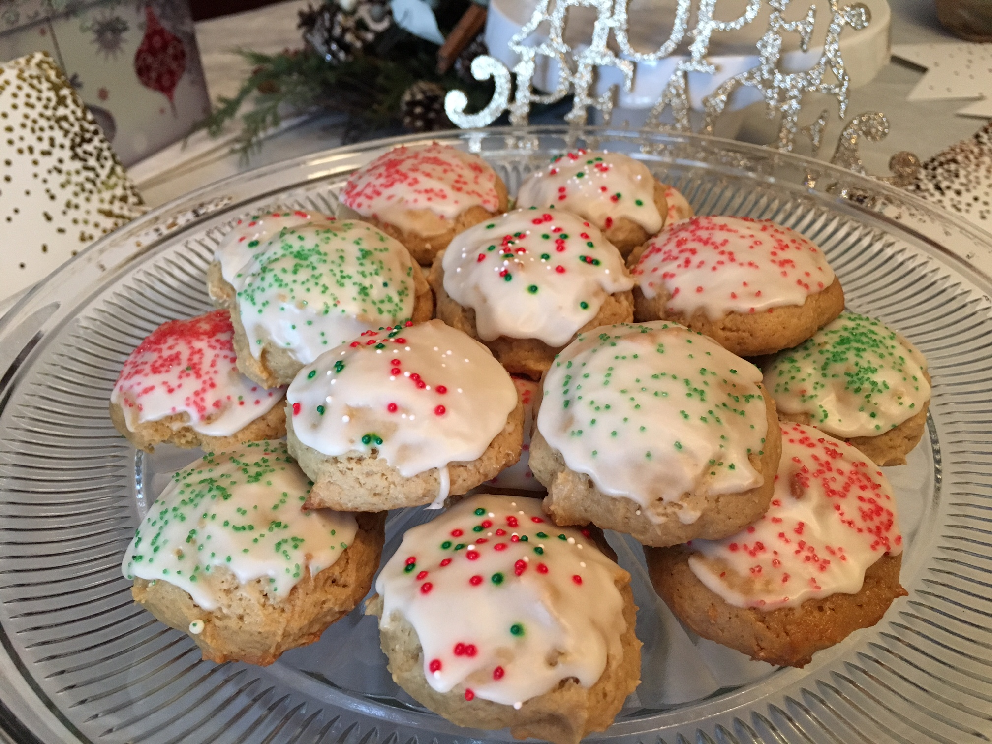 old fashioned christmas maple cookies
