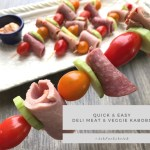 Quick and Easy, Deli Meat and Veggie Kabobs