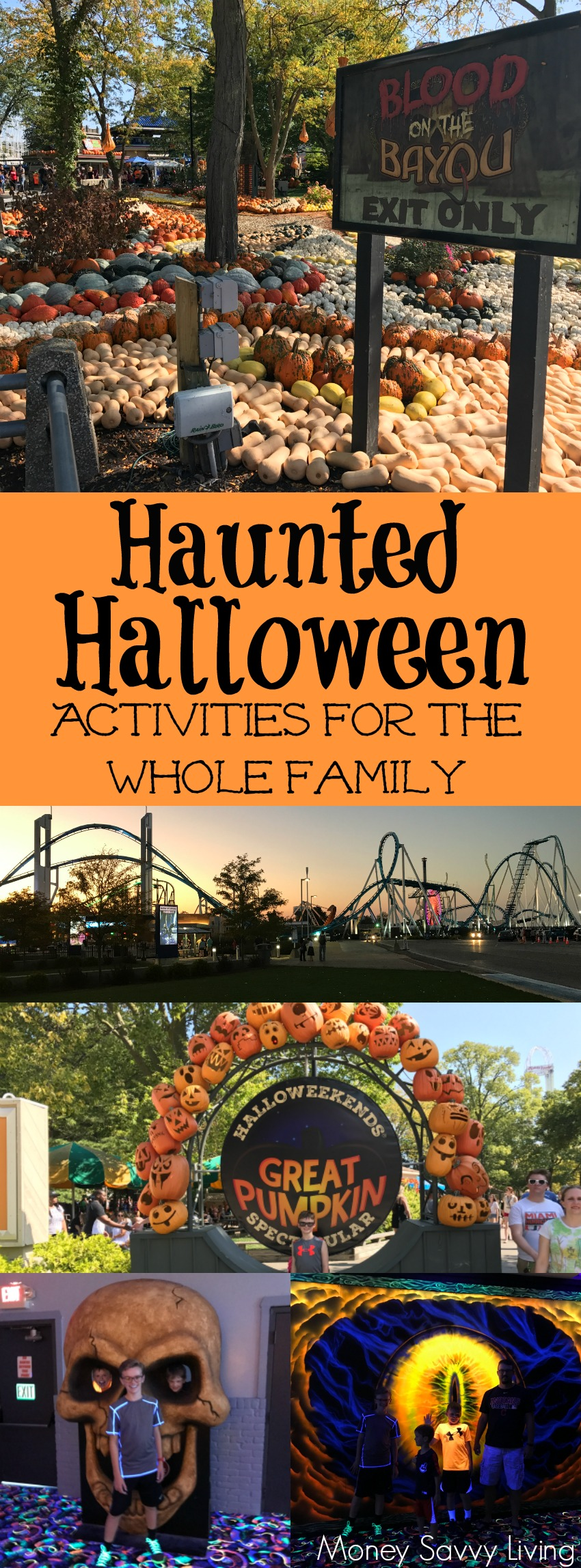 Your family will love these haunted and not-so-scary Halloween activities! Halloween Fun for the Whole Family! #Halloweekends #CedarPoint #GhostlyManor #Sandusky #LakeErieLove #shoresandislands #halloween #familyfun