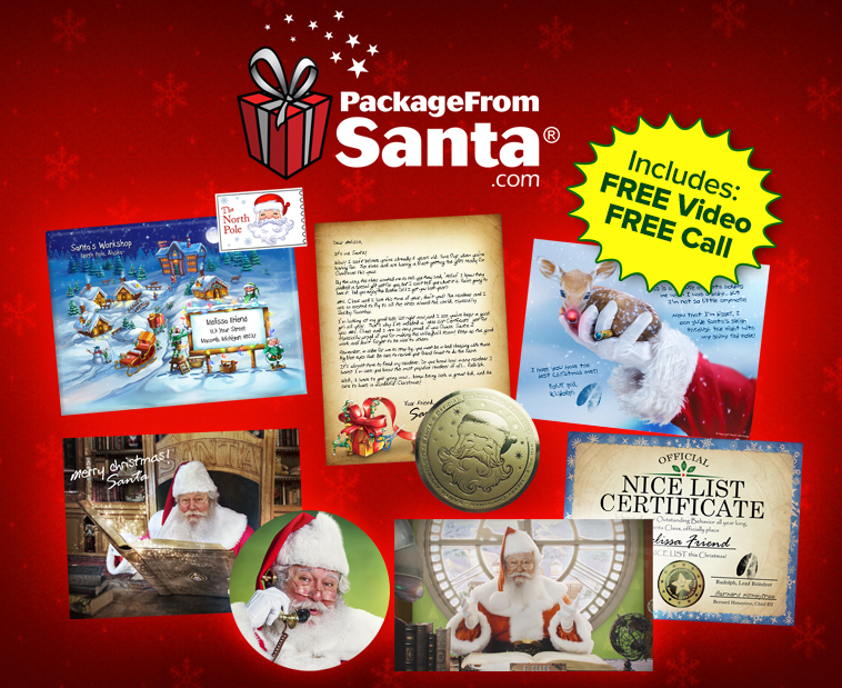 magical santa packages make magical for your child with a package from 15711 | package from santa silver