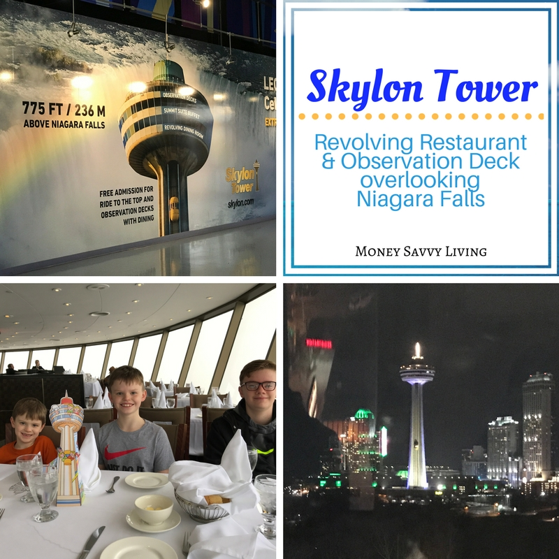 Family Friendly Things to do in Niagara Falls // Money Savvy Living #NiagaraFalls #exploreniagara #visitniagara #SkylonTower