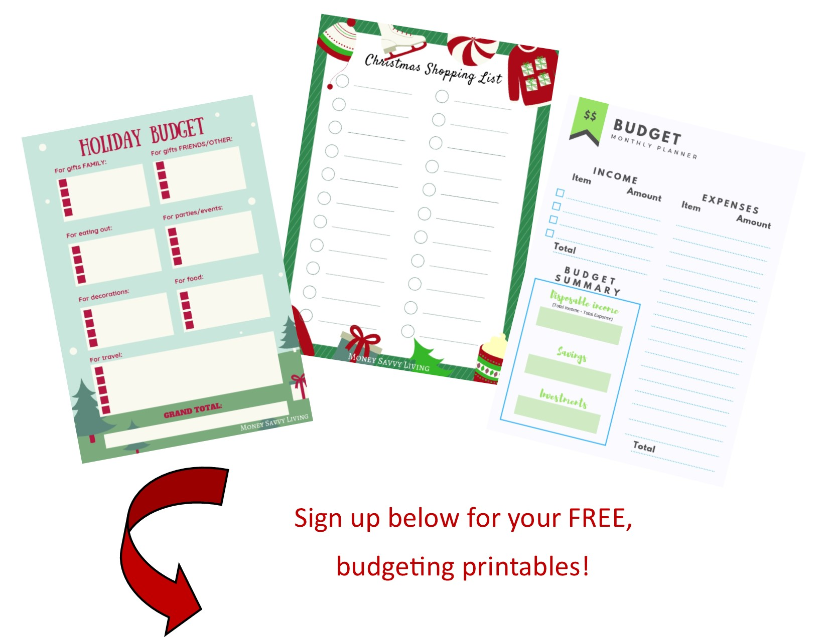 Create a specific budget for Christmas and the holiday season. #holiday #christmas #budget #holidayshopping #christmasshopping #christmasgifts #holidaytravel #travel #christmasparty #printable #freeprintable