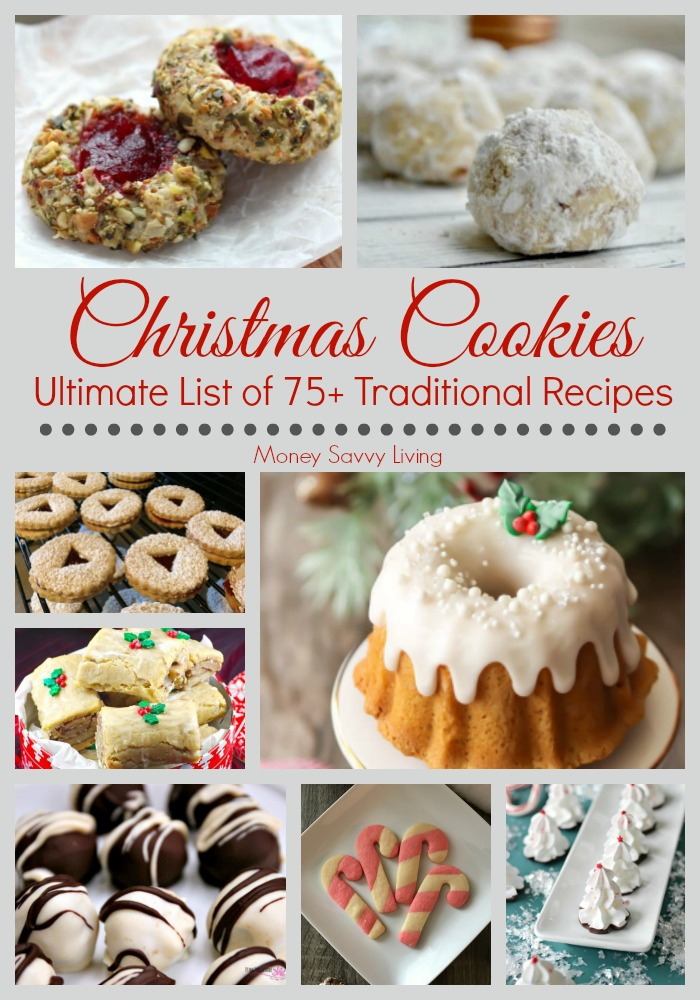 Looking for traditional or old fashioned cookie recipes for Christmas? Here are 75+ Traditional Christmas Cookie Recipes {and other Bite-Sized Goodies} that are sure to be a hit at your next family gathering or holiday party! #cookies #cookierecipe #oldfashionedcookies #homemadecookies #christmascookies #christmas #desserts