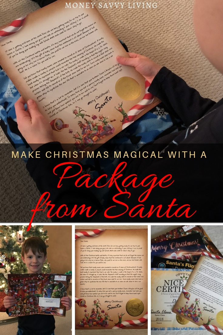 Make Christmas Magical with a Package from Santa {Review} #packagefromSanta #letterfromSanta #magicofChristmas #Christmas #christmasideasforkids #nicelist #santa
