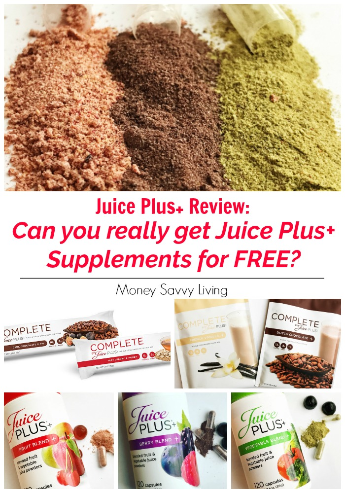 Can you really get Juice Plus+ for FREE? I review our family's experience with the company and what it actually took to get the Juice Plus+ products for FREE. #review #JuicePlus #JP #vitamins #minerals #health #healthyliving #wholefoods #fruit #vegetable #veggies #berry #capsules #gummies #vitaminsforkids #familyhealthstudy #plantbased