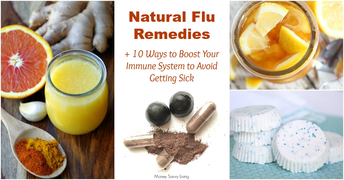 It's Cold and Flu Season, but there are some things that you can do to keep your family healthy. Here are the best Natural Flu Remedies + 10 Ways to Boost Your Immune System and Avoid Getting Sick this Winter #cold #flu #naturalfluremedies #immunebooster #coldsandflu #naturalremedies