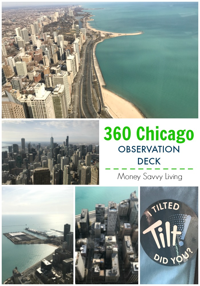 The John Hancock Building in Chicago has beautiful 360 degree views of the city!  #choosechicago #chicago #360chicago #observationdeck #tilt