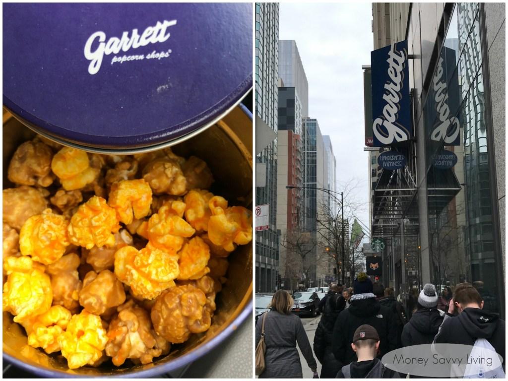 Best places to eat in Chicago! #chicago #chicagofood #travelchicago #popcorn #garrett #garrettpopcorn #garrettmix #chicagomix #caramelpopcorn #cheddarpopcorn #kettlecorn