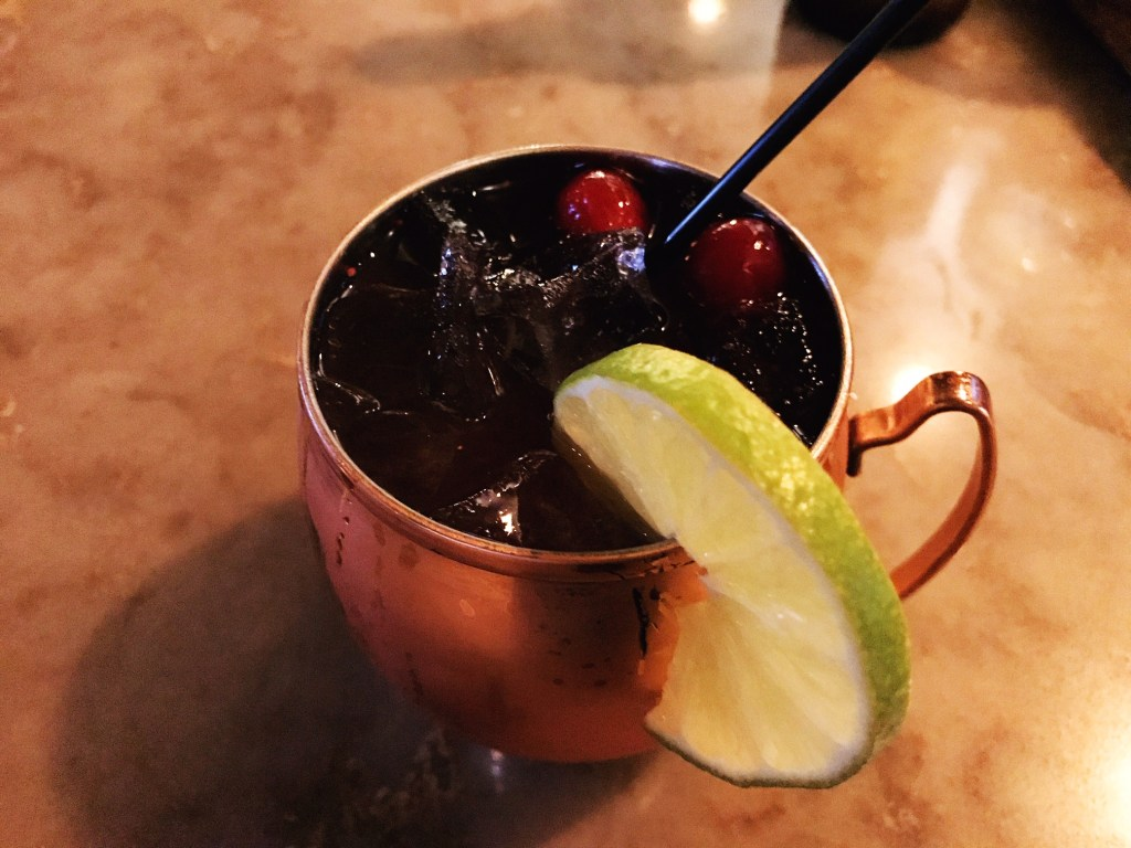 Cranberry Mule, Holloway's Bar at the Springhill Suites by Marriott, downtown Chicago