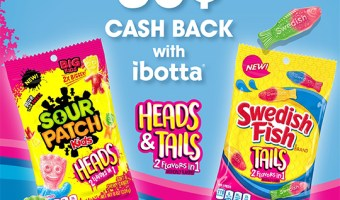 Coupon! Save $0.50 on Sour Patch Kids Heads and Swedish Fish Tails with this coupon from Ibotta
