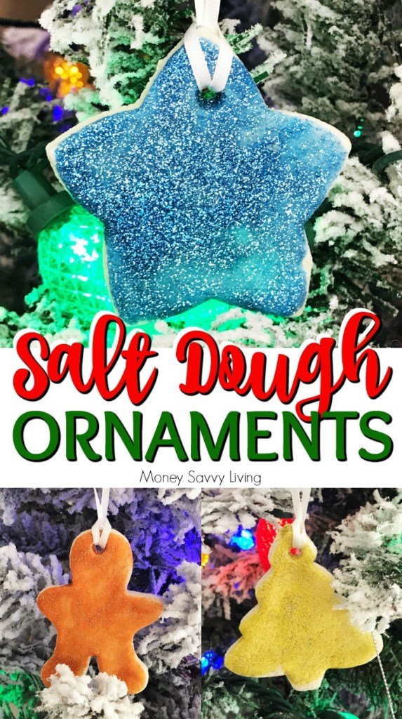 Here is a fun craft for your kids to make this Christmas! These are so fun to make-- Salt Dough Ornaments! #Christmas #christmastree #ornaments #ChristmasOrnaments #saltdoughornaments #Christmascraft #kidcraft