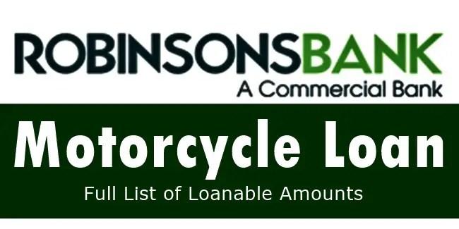 Robinsons Bank Motorcycle Loan