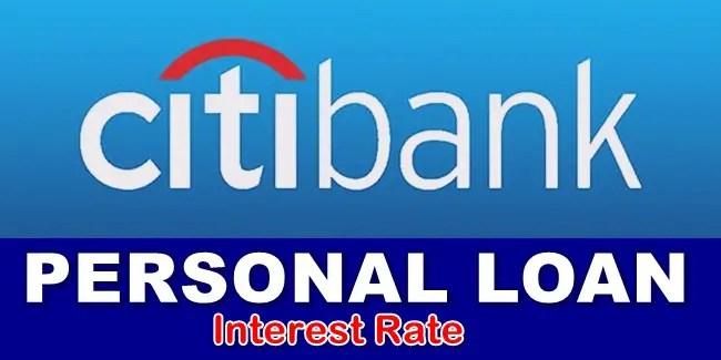 Citibank Loan Interest Rate