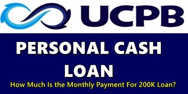 UCPB Personal Cash Loan