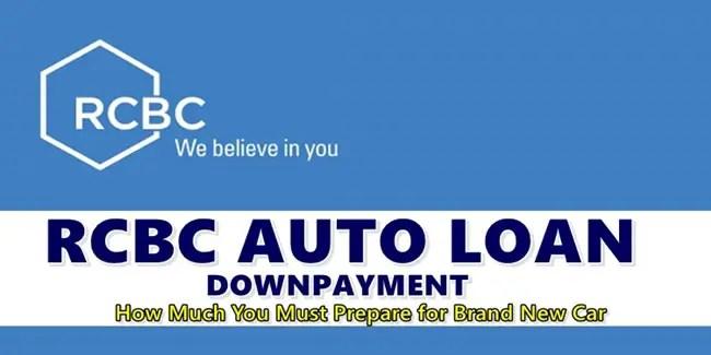 RCBC Auto Loan Downpayment