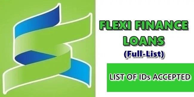 APPLYING FOR FLEXI FINANCE LOANS