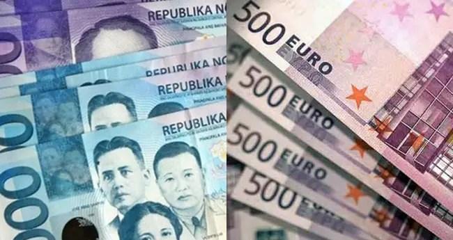 Peso-Euro Dollar Exchange Rate