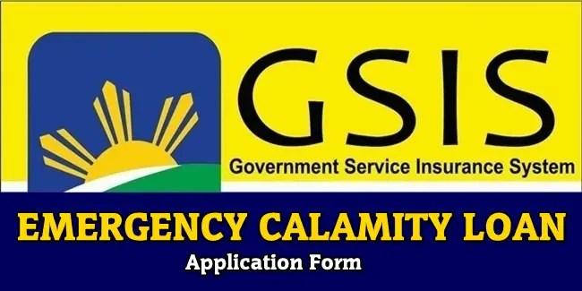 GSIS Emergency Calamity Loan'