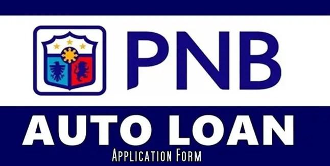 PNB Auto Loan Application form