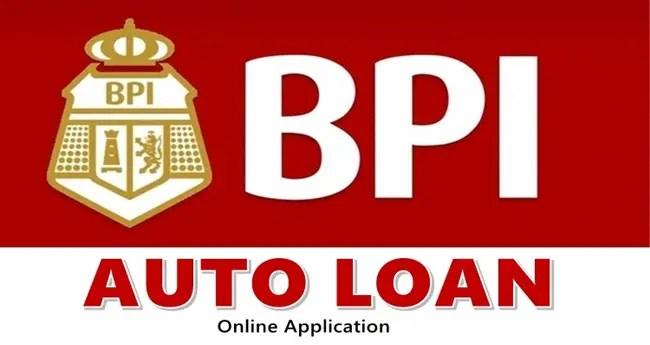 BPI Auto Loan Online Application