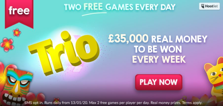 tombola free daily trio game