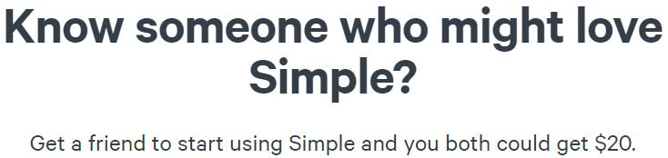 Simple Bank $20 Bonus