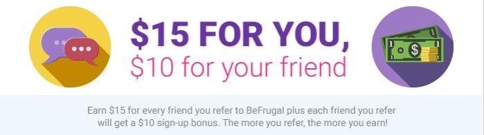 BeFrugal Cash Back Bonus