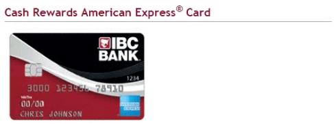 IBC Cash Rewards American Express