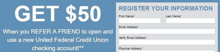 United Federal Credit Union $500 Checking Bonus