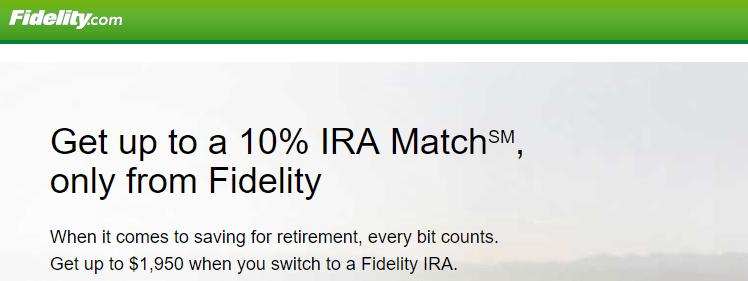 Fidelity IRA Match Bonus