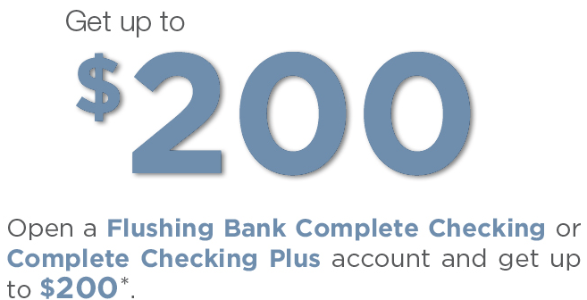 Flushing Bank Complete Checking $200 Bonus