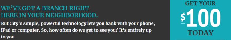 City National Bank $100 Bonus
