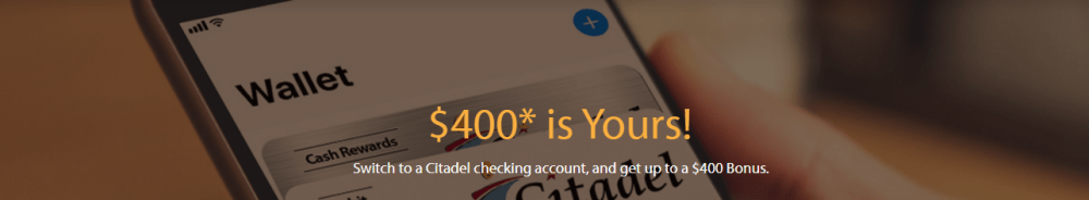 Citadel Bank $400 Checking Bonus