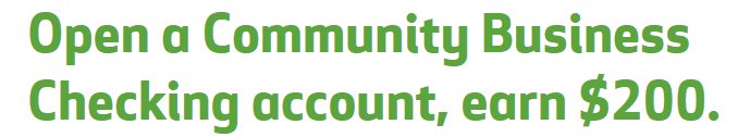 Hungtington Community Business $200 Checking Bonus
