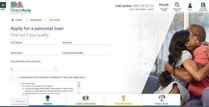 DirectAxis Personal Loans Website