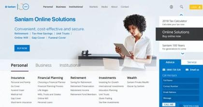 Sanlam Loans South Africa Website