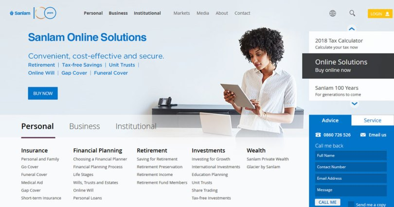 Sanlam Loans South Africa Website