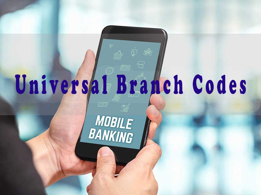 Universal branch codes of South African banks