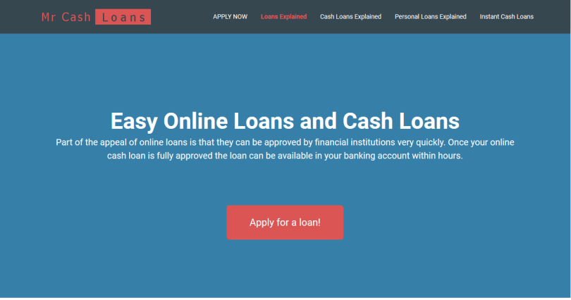 Mr Cash Loans - Easy Online Loans and Cash Loans