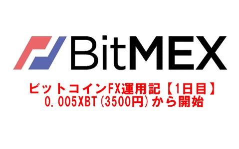 BITMEX運用記!3500円からのビットコインFX!byぱぴー【1日目】