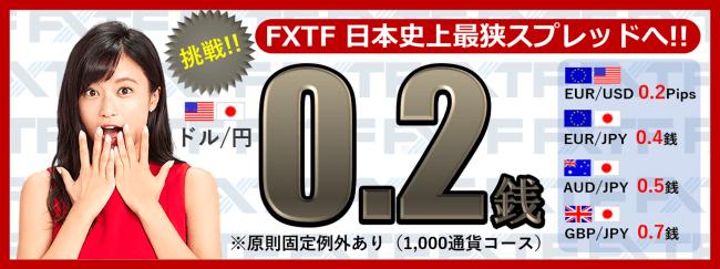 FXTFが日本史上最狭のスプレッドへ挑戦!(2019年9月25日)