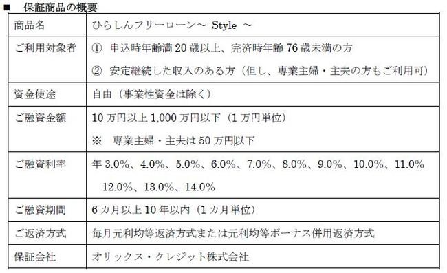 【オリックス・クレジット】平塚信用金庫と保証業務で提携