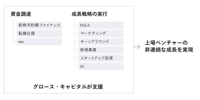 図1:グロース・キャピタルのサービス領域