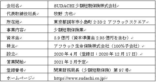 SUDACHI少額短期保険株式会社の登録完了について