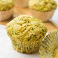 Olive oil and zucchini muffins