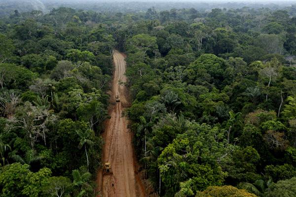 Carretera La extracción de petróleo en la Amazonía ecuatoriana