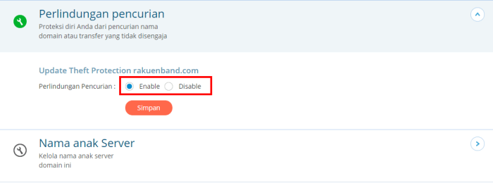 2 perlindugnan pencurian domain