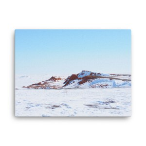 """""""Flaming Cliffs in Snow II"""" canvas wall art"""