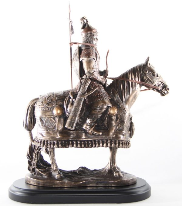 Mongolian warrior with spear