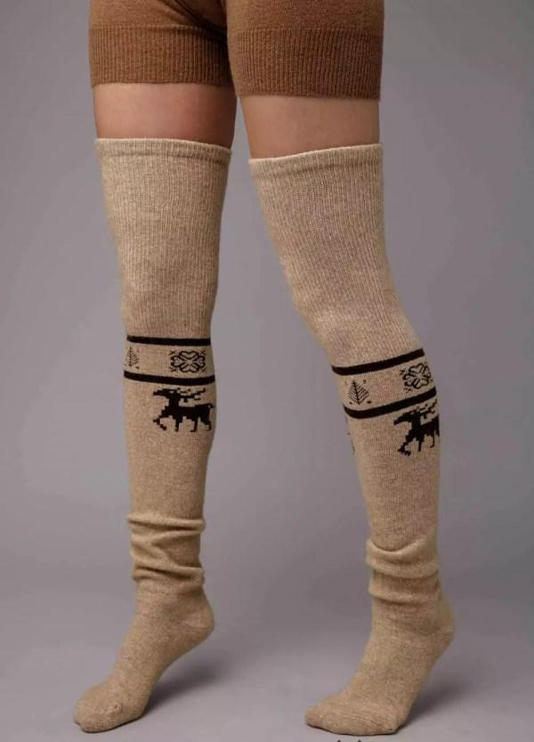 Camel Woolen Stocking